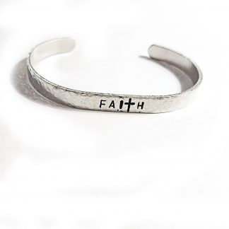 Faith Hand Stamped Cuff Bracelet