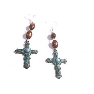 Rugged Cross Earrings