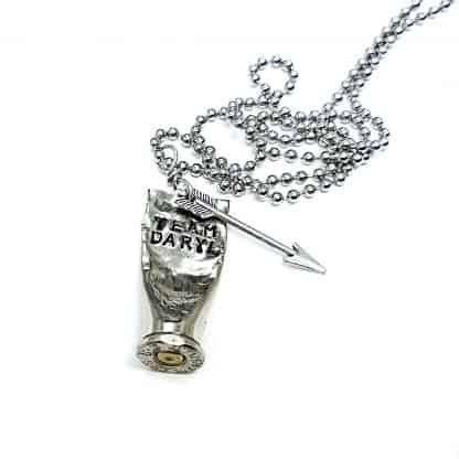 Team Daryl Hand Stamped Bullet Necklace